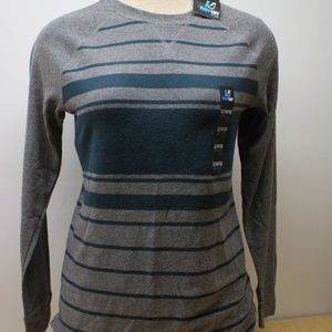 Amp Boy's 14/16 L Long Sleeve Grey Stripe Sweater